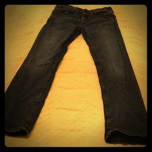 Levi's 514 Black Fade Denim Jeans EUC